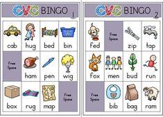 Phonics - CVC Bingo Game