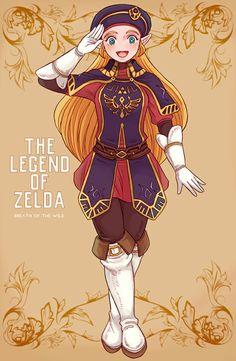 Princess zeda The Legend Of Zelda, Legend Of Zelda Breath, Female Character Design, Game Character, Fantasy Characters, Female Characters, Nintendo, Princesa Zelda, Botw Zelda