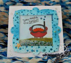 Noelia Iglesias Gonzalez:The Scrap Cris and Noe: Snorkeling Crab Shaker Card - 7/10/16. (Pin#1: 2 Cute... Pin+: Shaker; Summer Fun; Sea Life...; Children: General).