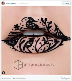 A nude that's anything but basic… | Literally Just 17 Ridiculously Gorgeous Lip Art Looks You'll Want To Copy