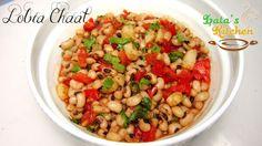Lobia Chaat Recipe Video — Indian Vegetarian Recipe in Hindi with English Subtitles