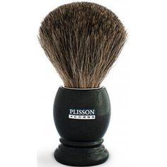 BLAIREAU GRIS ANTHRACITE EN VÉRITABLES POILS DE BLAIREAU - Plisson Shaving Brush, Wet Shaving, Deep Blue, Pure Products, Beauty, Gray, Badger, Man Party, Counter Top
