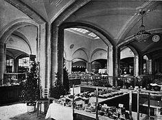 Berlin, Moritzplatz, Warenhaus Wertheim, Lebensmittelabteilung, circa 1900