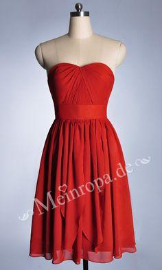 Rot Kurz Cocktailkleider Abendkleider Für festliche Anlässe ASLY278