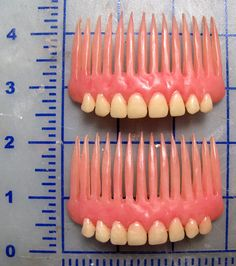 Denture Hair Combs via Etsy. The funniest hair combs I've ever seen! Dental Humor, Dental Hygienist, Weird And Wonderful, Oeuvre D'art, Make It Yourself, Cool Stuff, Scary Stuff, Awesome Things, Interesting Stuff