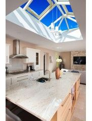 Atlas Roof Lanterns, available in both Contemporary and Traditional Styles to compliment any extension or new build Kitchen Tiles Design, Kitchen Wall Tiles, Hells Kitchen, Roof Design, Küchen Design, Orangery Roof, Open Plan Kitchen Dining Living, Small Dining, Ikea