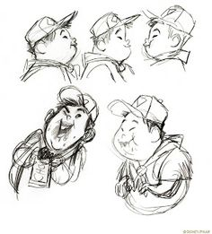 character concept art | Living Lines Library: Up (2009) - Character Design