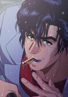 Film Anime, Manga Anime, City hunter, Nicky Larson, Cool Anime Guys, Hunter Anime, Angel Heart, Fan Art, Comics