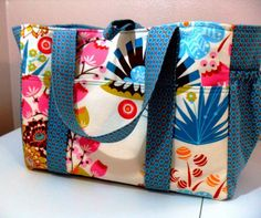 Large Diaper Bag in LouLouThi by Anna Maria Horner Fabrics. $96.00, via Etsy.  Little pricey, but I love the fabric!