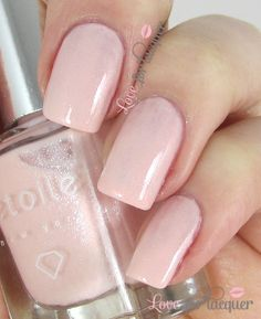 http://www.loveforlacquer.com/2014/01/etoile-nail-polish-swatches-gloss48.html Princess - Delicate girly light pink.