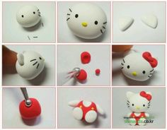 Tutorial for Fondant Hello Kitty in Red Dress Figure.