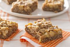 caramel-apple-crisp-bars-  I made these tonight & they are the best dessert recipe I have made in years, they are AWESOME~Kristin