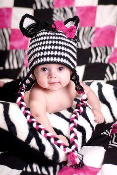 CROCHET - HAT / BONNET / MUTS - Zebra Hat - 40 Free Crochet Animal Hat Patterns