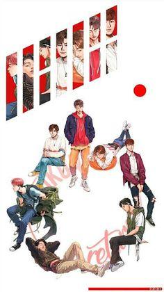 Pin by 리사🌠 on ikon (아이콘) Kim Jinhwan, Chanwoo Ikon, Ikon Wallpaper, Screen Wallpaper, Ikon Member, Ikon Kpop, Ikon Debut, My Bebe, Kpop Drawings