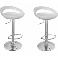 White Modern Bar Stools Set of 2 Plastic Metal Kitchen Pub Home High Chairs Seat for sale online Buy Bar Stools, White Bar Stools, Cool Bar Stools, Modern Bar Stools, Swivel Bar Stools, Metal Stool, Metal Chairs, Miami Bar, Breakfast Bar Chairs