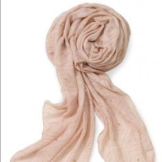Stella & Dot Westwood Scarf  Beautiful pink scarf with gold accents by Stella & Dot is perfect for spring and summer! This scarf has never been worn and was used for show demo only, still in perfect condition.  Stella & Dot Accessories Scarves & Wraps