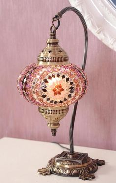 FREE Delivery for Xmas Turkish Moroccan Mosaic Swan Goose Neck Table Desk Bedside Night Turkish Lamps, Moroccan Lamp, Pendant Chandelier, Bedroom Lamps, Home And Deco, Hanging Lights, Hanging Lamps, Mosaic Glass, Chandeliers