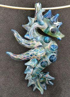 seahorse -  glass bead