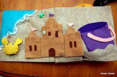 Build-a-sandcastle quiet book page.