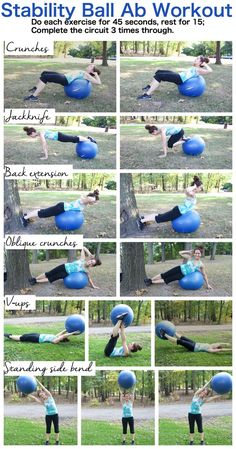 Stability Ball Ab Workout--6 stability ball moves to make your core sore! #workout