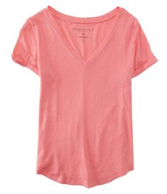 "The key to a well-balanced wardrobe are reliable basics like our Seriously Soft Perfect V-Neck Tee! Great for all casual occasions, it features a classic v-neckline, as well as cool rolled sleeve cuffs. It's an ideal match with anything from destroyed jeans to fleecy sweats.<br><br>Relaxed fit. Approx. length (S): 25.5""<br>Style: 8884. Imported.<br><br>60% cotton, 40% polyester.<br>Machine wash/dry."