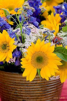 sunflower bouquet so lovely!