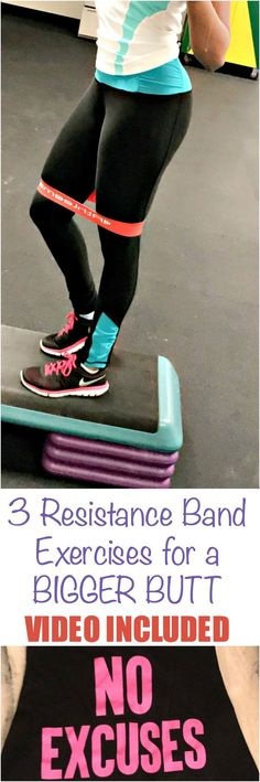Three quick and easy exercises for a bigger butt can be done with resistance bands in home, at a hotel, or pretty much anywhere.