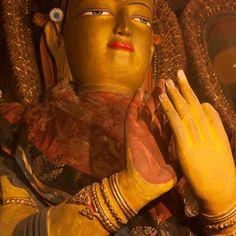 Golden #Buddhist sculpture. #himalayanjourney #wanderlust #traveldeeper
