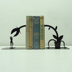 Feed Me Seymour Metal Art Bookends  Free USA by KnobCreekMetalArts, $49.99