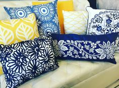 Pillows for all kind of events Yellow Pattern, Cabo, Event Decor, Event Design, Blue Yellow, Decorative Pillows, Mexico, Events, Throw Pillows