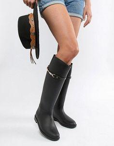 821a14a82 Women's Rain Boots Fall 2018 // Резиновые сапоги осень 2018 Сапоги Для  Верховой Езды,