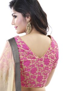 Get this #Designer saree for yourself to #look #captivating like #never before. This #features #Embo #Metallic and #Sparkling borders added to its both ends and #Light #Embroidery at its bottom. This is #paired with a #blouse piece added with similar #appeal.