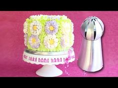 Russian Ball Tip on a cake - How to use Russian Ball Tips - YouTube