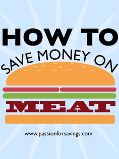 One of the best ways to cut your grocery bill is knowing how to save money on meat.  Don't pay full price for meat! You don't have to.