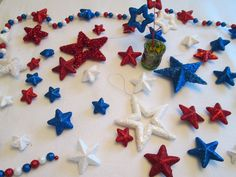 of July Party Decorations; Americana Banner and Ornaments; Independence Day by on Etsy Alice In Wonderland Photography, Alice In Wonderland Party, Nautical Theme Decor, Nautical Party, Birthday Party Decorations, Baby Shower Decorations, Diaper Cake Centerpieces, Decorating Supplies, Patriotic Decorations