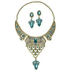 Disney Store Arabian Princess Jasmine Jewelry Set Necklace Earrings Costume Dres