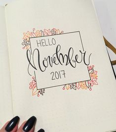 The closest I've come in a while to doing some form of art due to school consuming all my time. November planning in my bullet journal ☺️? I really needed this moment for me, doing something that lets my mind rest. The closest I've co Bullet Journal September Cover, Bullet Journal Cover Ideas, Bullet Journal Monthly Spread, Bullet Journal 2019, Bullet Journal Notebook, Bullet Journal Ideas Pages, Bullet Journal Inspo, Bullet Journal Layout, Journal Pages