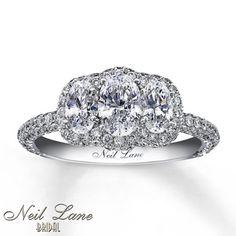 Neil Lane 3-Stone Ring 2 1/3 ct tw Diamonds 14K White Gold