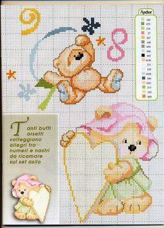 Cross Stitch Needles, Cross Stitch Baby, Cross Stitch Charts, Cross Stitches, Disney Cross Stitch Patterns, Cross Patterns, Owl Sewing, Cross Stitch Christmas Ornaments, Animal Crackers