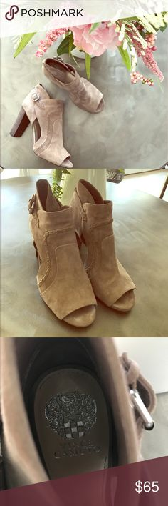 Vince Camuto heeled sandal Great condition. Small mark pictured. Vince Camuto Shoes Heels
