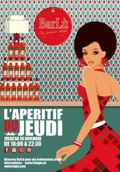 Illustration BarLù in Lausanne I great place to be if you love Italian Food & Drinks