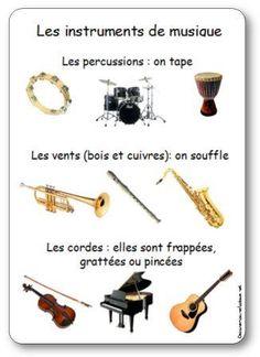 Voir les familles d'instruments de musique                              …