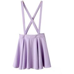 Finejo Women's Candy Color Braces Short Suspender Skirt ($14) ❤ liked on Polyvore featuring skirts, mini skirts, bottoms, dresses, overalls, short skirts, purple skirt, purple mini skirt and short mini skirts