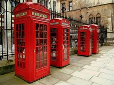 Top 10 features of a quintessential Britain: #4 Red phone boxes. View all 10 typically British stereotypes >> http://angloberry.com/blog/166/Top-10-features-of-a-quintessential-Britain #UK
