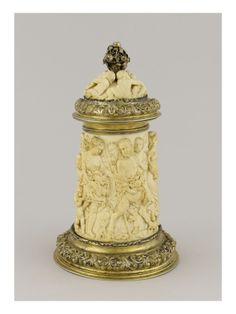 Chope en ivoire monté en argent doré - Musée national de la Renaissance (Ecouen)