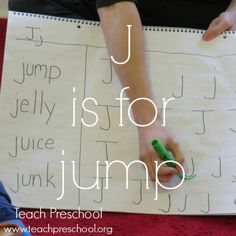 J is for jump by Teach Preschool