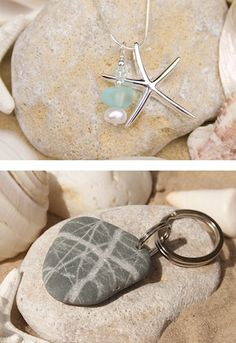 Driftwood Dreaming using Eternal Tools Diamond Drill Bits and tools to create her coastal jewellery and pebble key rings. Drilling through sea glass and drilling through beach pebbles and stones is easy when you know how, take a look at our simple infographic to show you how:http://www.eternaltools.com/how-to-drill-through-glass-infographic/