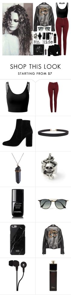 """""""496->""""Mz. Hide"""" by Halestorm"""" by dimibra ❤ liked on Polyvore featuring Doublju, AG Adriano Goldschmied, MANGO, Humble Chic, Ray-Ban, Native Union, Gucci, Skullcandy, Christian Dior and CLUSE"""