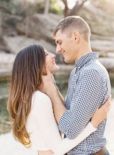 Emilie and Brandon's Creekside Engagement Session | Mint Photography | Wedding Sparrow