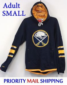 30fb2e468  39.00 Buffalo Sabres Reebok Hoodie Adult SMALL NHL FaceOff SewnOn  Embroidered Logo NWT  Reebok  Pullover  nhl faloSabres  NHL  nhlhockey   NHLSabres